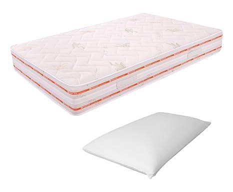 Matratze Schaumstoff Memory-Schaum 6cm 120x 200Höhe 25cm Kissenbezug-Platz und Media-13cm Relax ORTOPEDICO