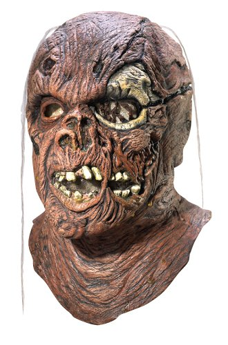 Rubie's Costume Co Friday The 13th Part 7 New Blood Jason Voorhees Deluxe Overhead Mask, Gray, One Size