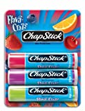 Chapstick Flava-Craze Lip Balm, Rasberry, Grape, Strawberry, Cherry - 3 Ea/Pack x 12 Pack
