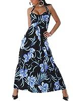 Jela London Damen Bandeau Blumen Kleid (Einheitsgröße 30 32 34 36)