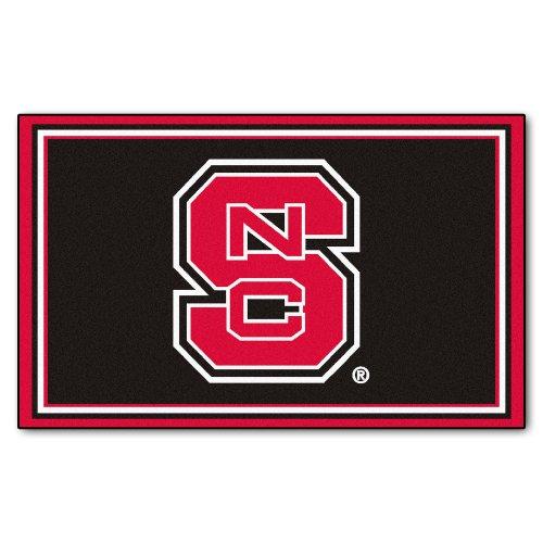 Fanmats Ncaa North Carolina State University Wolfpack Nylon Face 4X6 Plush Rug front-609327