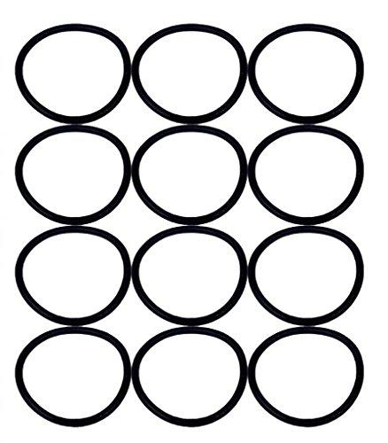 Eureka SAN-GENBELT (12 Pack) Vacuum Cleaner Rubber Brush Roll Belt, Black # E-30563-12pk (Vacuum Cleaner Rubber compare prices)