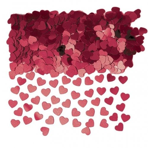Burgundy Sparkle Hearts Table Confetti Sprinkles 14g x 3