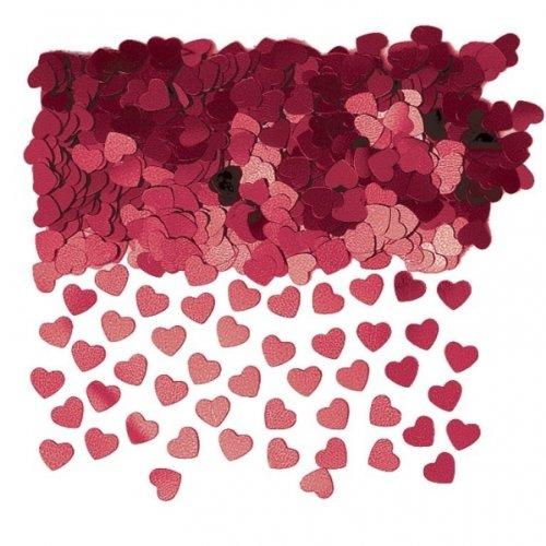 Burgundy Sparkle Hearts Table Confetti Sprinkles 14g x 3