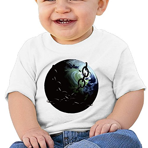 La Beti Design Baby Infants &Toddlers Earth T-shirt White 18 Months