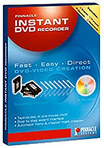 Pinnacle Instant DVD Recorder Software Retail