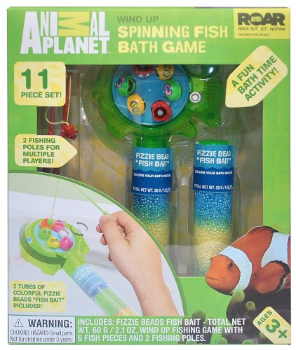Animal Planet Wind Up Spinning Fish Bath Game (Discontinued by Manufacturer) - 1