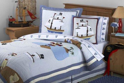 Pirate Boys Quilt Bedding Set