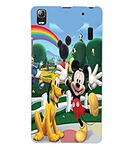 ColourCraft Lovely Cartoon Characters Design Back Case Cover for LENOVO A7000