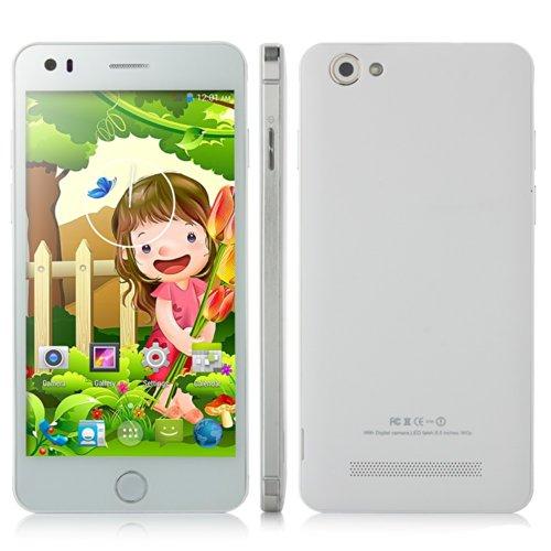 Mobiper S5S Android 4.4 Smartphone 1.3Ghz 5Inch 7.9Mm Slim 1Gb 4Gb Otg Gps 3G Dual Sim (Champagne)