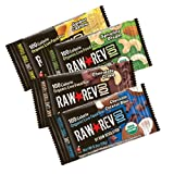 Raw Rev 100, 4-Flavor Variety Pack, 100 Calorie Organic Live Food Bar, 0.8-Ounce Bars (Pack of 24) ~ Raw Revolution