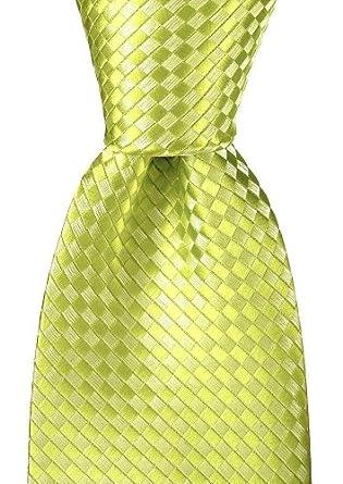 Scott Allan Men's Checkerboard Necktie - White/Green