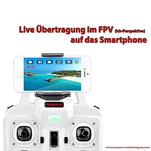 FPV Quadrocopter X5SW-1 Explorers 2 PRO HD-Edition, Neueste UPGRADE Version inkl. Wifi FPV Echtzeitübertragung-Set (Live Übertragung auf Smartphone), 4.5-Kanal RC ferngesteuerte 3D Drone 2.4GHz- und Headless-Technologie, inkl. FPV-Set, HD Kamera-Set, 2x