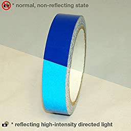 JVCC REF-7 Engineering Grade Reflective Tape: 1 in. x 30 ft. (Blue)