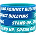 100 Band Against Bullying Wristbands - Stand Up. Speak Out. Bracelets