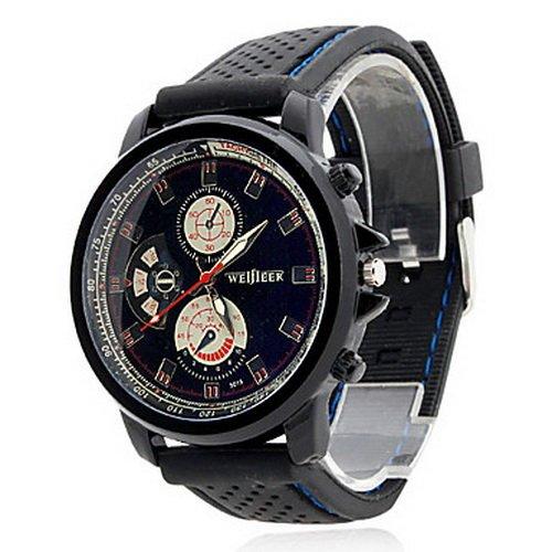 Rubber Analog Quartz Beige Dial Unisex Watch Men's Watch