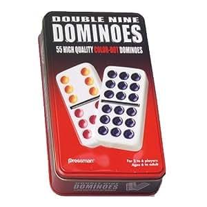 Pressman Double 9 Dominos Colorés