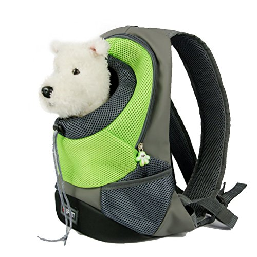 LeegooTM Pet Dog Cat Puppy Carrier Travel Backpack Front Net Shoulder Bag Backpack (Green)