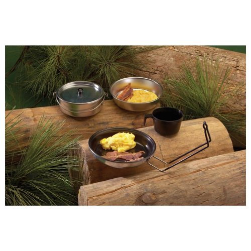 Texsport Five-Piece Non-Stick Aluminum Mess Kit