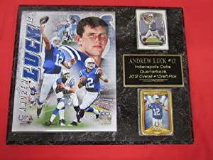 Andrew Luck Indianapolis Colts 2 Card Collector Plaque w 8x10 Photo! by J & C Baseball Clubhouse