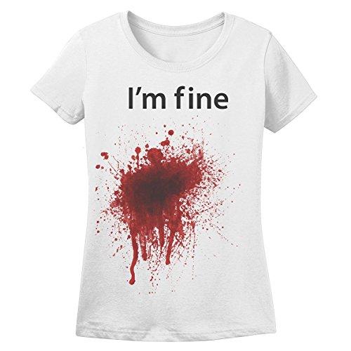 Hpyeed Women's I'm Fine T-shirt