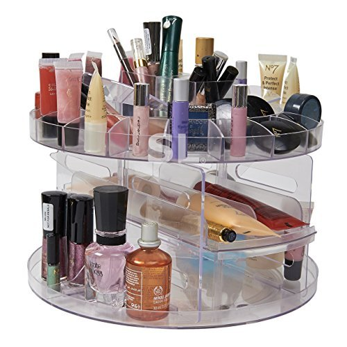 versatile-rotating-spinning-beauty-clear-acrylic-cosmetic-caddy-organiser-drawer-make-up-nail-polish