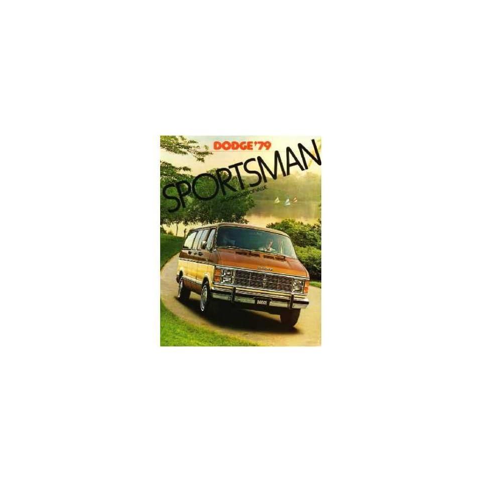 1979 Dodge Sportsman Van Sales Brochure Literature Book Advertisement