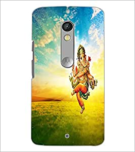 PrintDhaba Lord Ganesha D-3750 Back Case Cover for MOTOROLA MOTO X PLAY (Multi-Coloured)