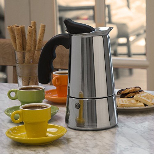 Primula 6 Cup Espresso Maker Finely Crafted Stainless