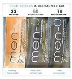 Men-u matt Refresh & Moisturise set 3 x 15ml