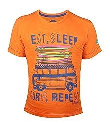 Vitamins Boys' T-Shirt (08B-758-16-Orange_Orange_14 - 15 Years)