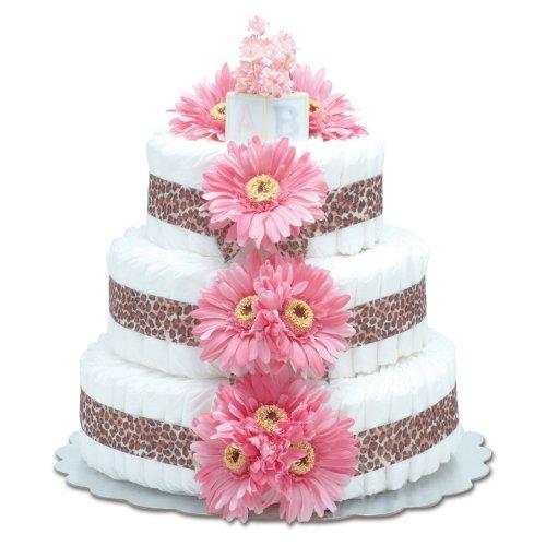 Pink Diaper Cakes