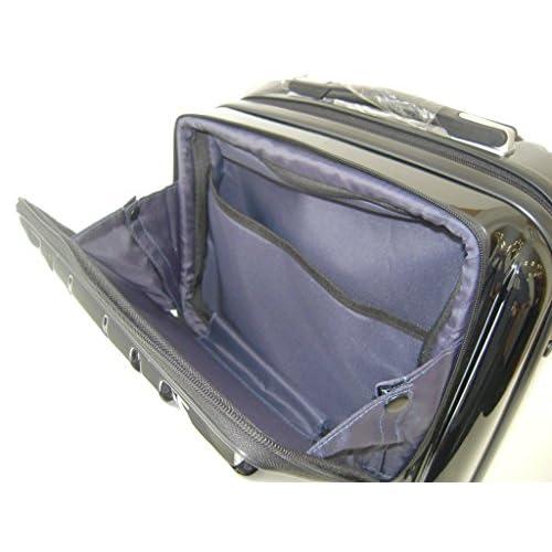 [ワールド トラベラー] World Traveler アマゾン限定 ACEコラボ特別企画 ペンタクォーク ストッパー付スーツケース46cm・2.9kg・32リットル・TSAロック搭載・機内持ち込みサイズ 05661 01 (ブラック)