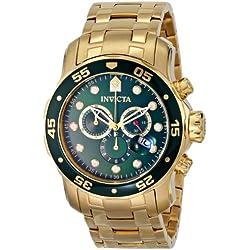 Invicta 0075 - Reloj de pulsera hombre, color dorado
