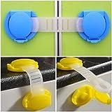 Alcoa Prime 10pcs Toddler Baby Safety Lock Kids Drawer Cupboard Fridge Cabinet Door Lock Plastic Cabinet Locks