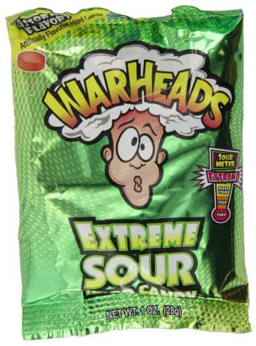 Warheads Extreme Sour Candy 28 g (Pack of 6)