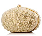 2015 Fashion Diamond Finger Ring Pearl Evening Bags Evening Clutch Bags Luxury Brand Bag Ladies Bags (Champagne)