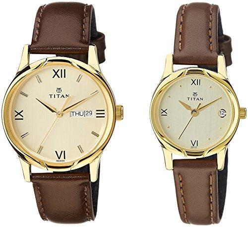 Titan-Analog-Gold-Dial-Pair-Watch-NE15802490YL05