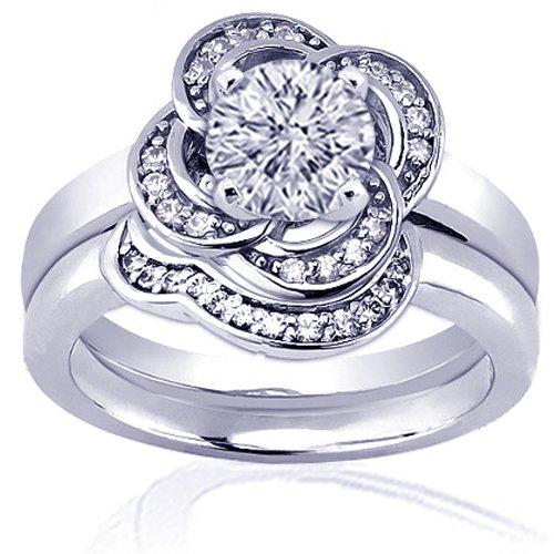 1.20 Ct Round Flower Halo Diamond Engagement