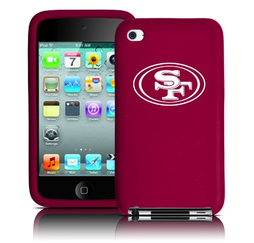 Tribeca FVA3684 Varsity Jacket (Silicone) iPodTouch - 4th Generation - San Francisco 49ers - Crimson at Amazon.com