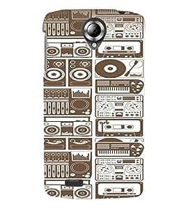 Fuson Premium Retro Music Printed Hard Plastic Back Case Cover for Lenovo S820