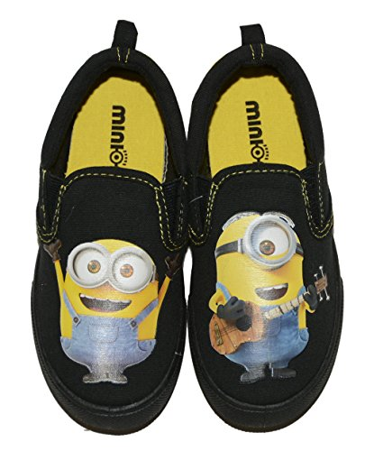 Despicable Me Minions Boys' Canvas Sneaker (3 M US Big Kid, Black/yellow) (Despicable Me Shoes)