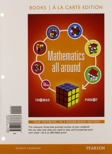 Mathematics All Around, Books a la Carte Edition Plus NEW MyMathLab with Pearson eText -- Access Card Package (5th Edition)