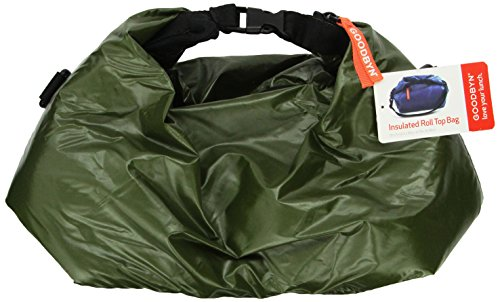 Goodbyn Roll Top Insulated Lunch Bag, Dark Green - 1