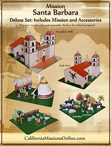 Mission Santa Barbara Large Model Deluxe Set (Santa Barbara Mission Model compare prices)