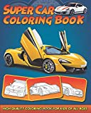 Supercar Coloring Book: 30 High Quality Supercar Design for Kids of All Ages