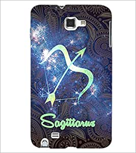 PrintDhaba Zodiac Sagittarus D-3237 Back Case Cover for SAMSUNG GALAXY NOTE 1 (Multi-Coloured)