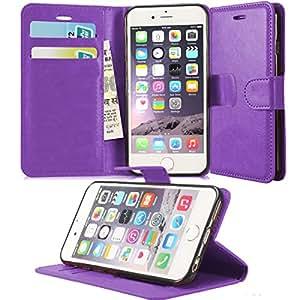 GBOS APPLE IPHONE 6 PLUS / Apple IPHONE 6S LEATHER WALLET BOOK FLIP CASE COVER POUCH CARD & CASH SLOT PURPLE
