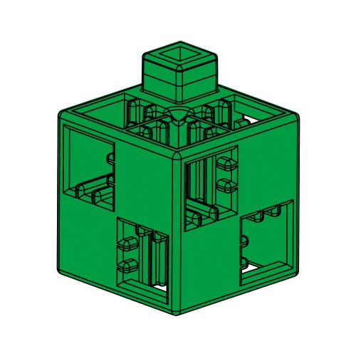 Artec Atekku Block Basic Square 24P Green (Japan Import)
