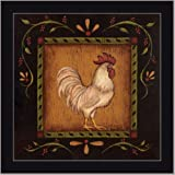 Rooster I French Country Cottage Decor Kitchen Framed